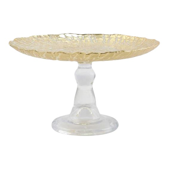 Kenneth Ludwig Chicago Rufolo Gold Cake Stand For Sale