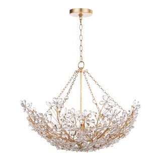 Cheshire Basin Chandelier in Gold Leaf For Sale