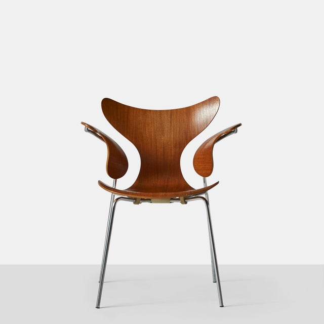 1970s Arne Jacobsen, Armchair, the Lily, Model 3208 For Sale - Image 5 of 9