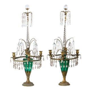 Neoclassical Candelabra Pair 19thC Swedish or Baltic For Sale