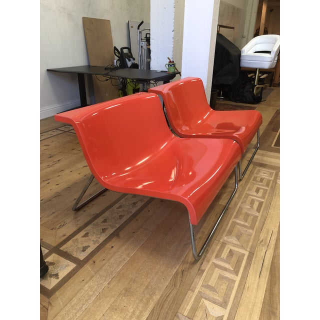 Kartell Kartell Piero Lissoni Orange Form Lounge Chairs - a Pair For Sale - Image 4 of 10
