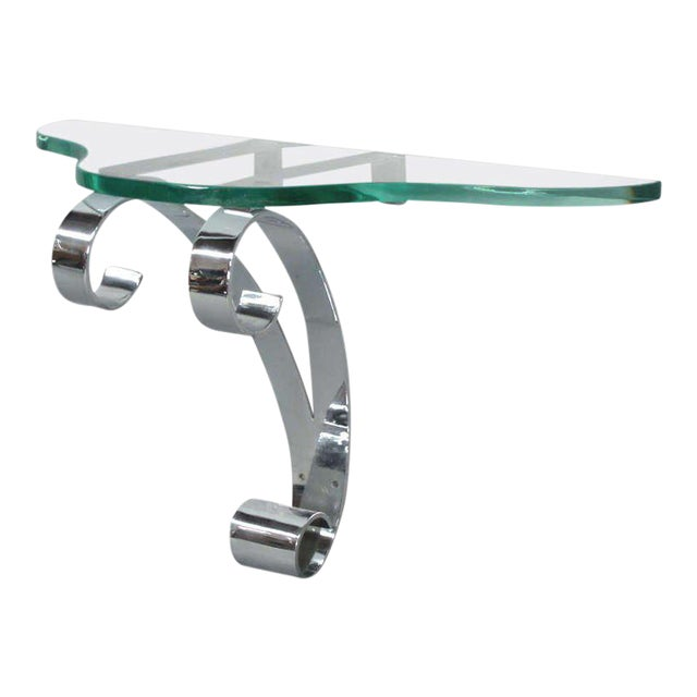 Art Deco Wall-mounted Entry Shelf Console For Sale