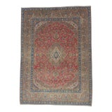 Image of Vintage Persian Medallion Design Tabriz Rug- 9′5″ × 12′10″ For Sale