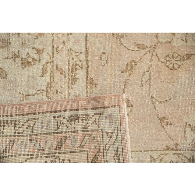 "Textile Vintage Distressed Oushak Carpet - 7'2"" x 12'1"" For Sale - Image 7 of 10"