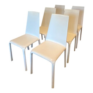 Bontempi Casa Italian Leather Dining Chairs - Set of 6 For Sale