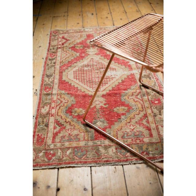 "Old New House Vintage Distressed Oushak Rug Runner - 2'5"" X 5' For Sale - Image 4 of 7"