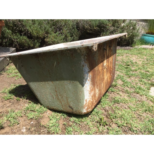 Americana Cast Iron Antique Salvage Utility Sink For Sale - Image 3 of 11