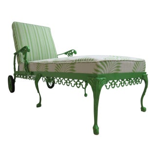 Vintage Aluminium Chippendale Ball & Claw Patio Chaise