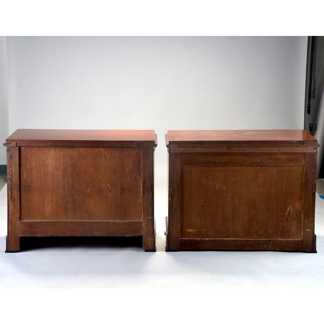 Mahogany English Mahogany Chests With Black Detailing - a Pair For Sale - Image 7 of 11