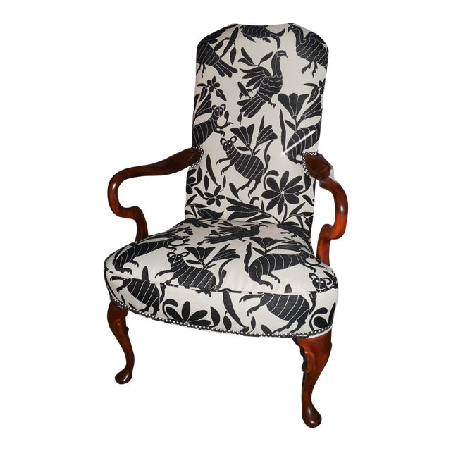 Hickory 1970's Queen Anne Otomi Armchair - Image 1 of 10