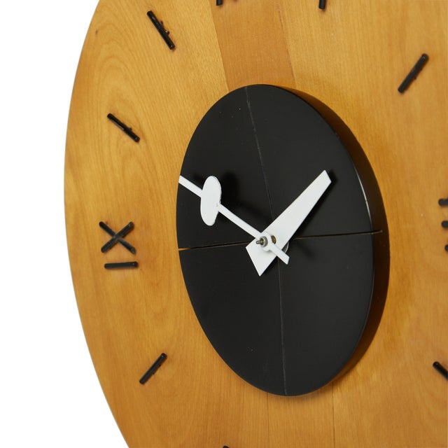 George Nelson Howard Miller Birchwood Wall Clock - Image 2 of 5