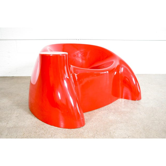 Mid Century Wendell Castle Red Fiberglass Lounge Chair ...