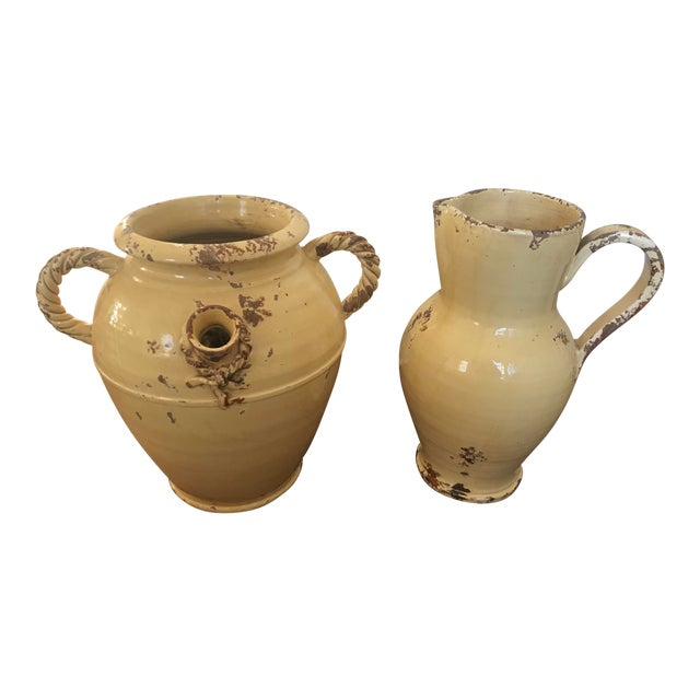 Tuscan Urn and Pitcher - a Pair For Sale