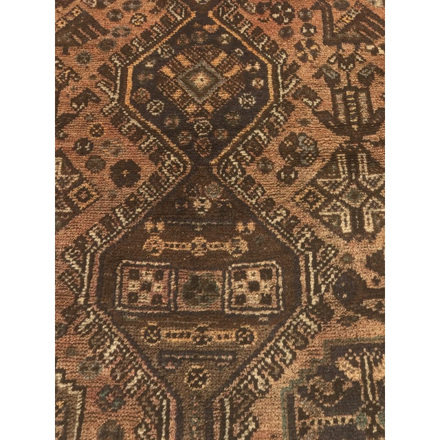"""Vintage Persian Shiraz Area 70-Year-Old Rug - 4'6"""" x 6'3"""" - Image 4 of 10"""