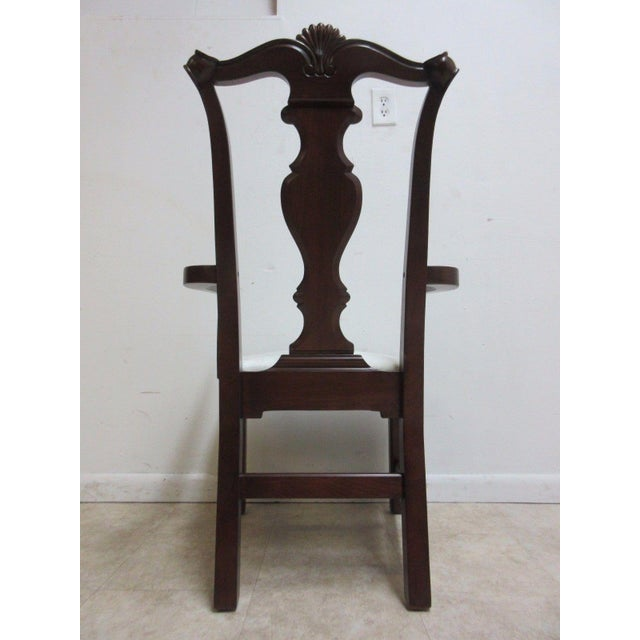 Pennsylvania House Cherry Shell Carved Dining Room Arm Chairs - Set of 4 For Sale - Image 10 of 11
