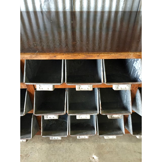 Antique 1940s Hardware Store Counter For Sale - Image 4 of 11