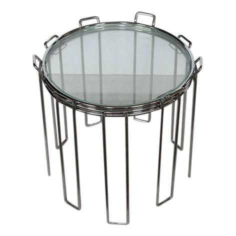 Superior modern chrome and glass nesting tables by saporiti decaso watchthetrailerfo