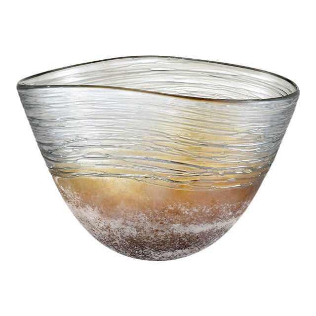 Kenneth Ludwig Chicago Jenni Blown Glass Bowl For Sale