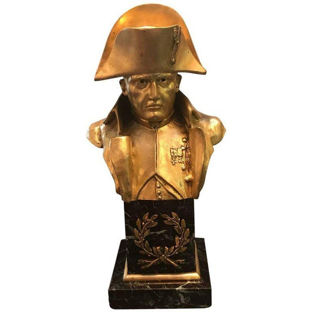 French Empire Bronze Napoleon Bust For Sale - Image 10 of 10
