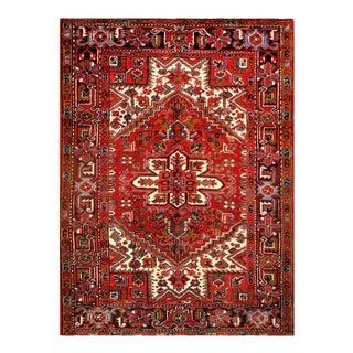 Pasargad Red Persian Antique Heriz Rug- 4'11'' X 6'6'' For Sale