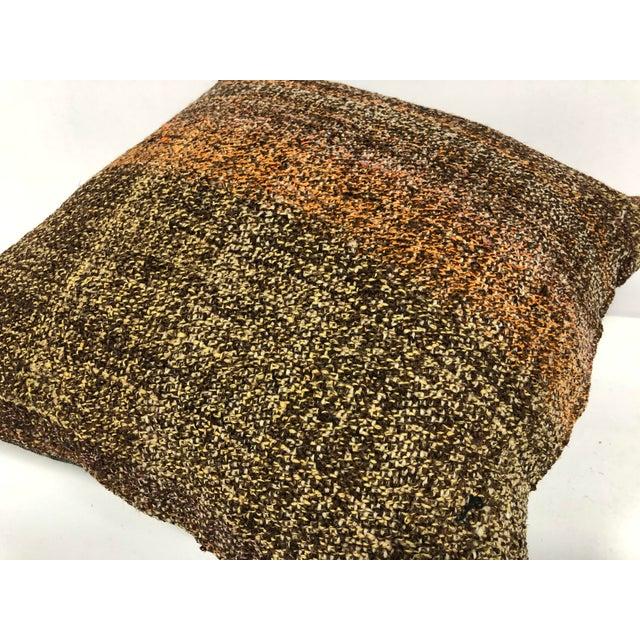 1970s Turkish Anatolian Ethnic Decorative Traditional Kilim Cushion Cover For Sale - Image 5 of 6