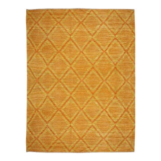 Modern Navajo Orange Rug For Sale