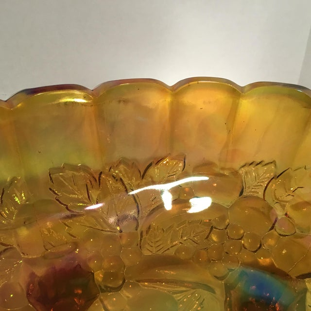 Carnival Glass Serving Bowl - Image 9 of 11