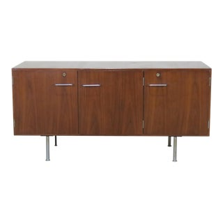 Mid-Century Modern Wood and Chrome Credenza For Sale