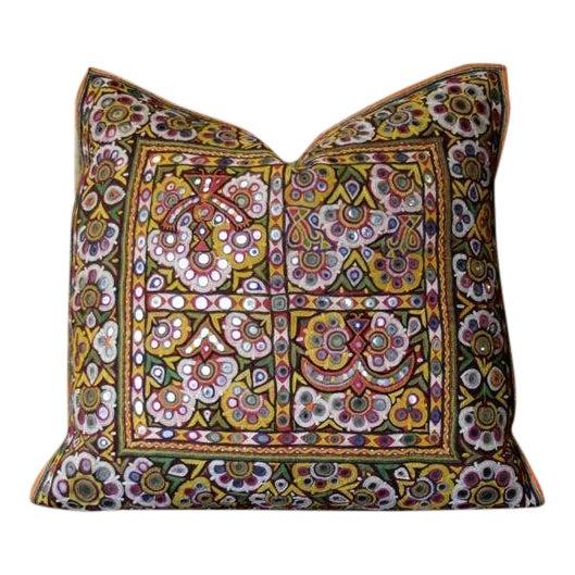 Antique Utsav Reshmi Sutra Pillow For Sale