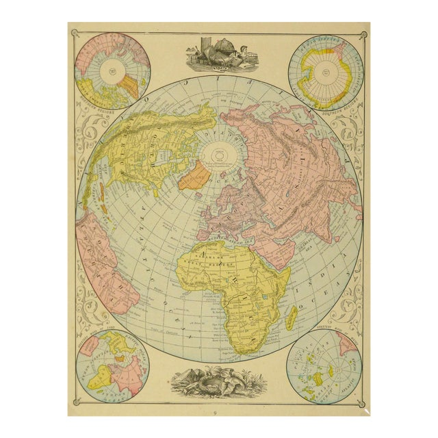 World Map, 1890 - Image 1 of 3