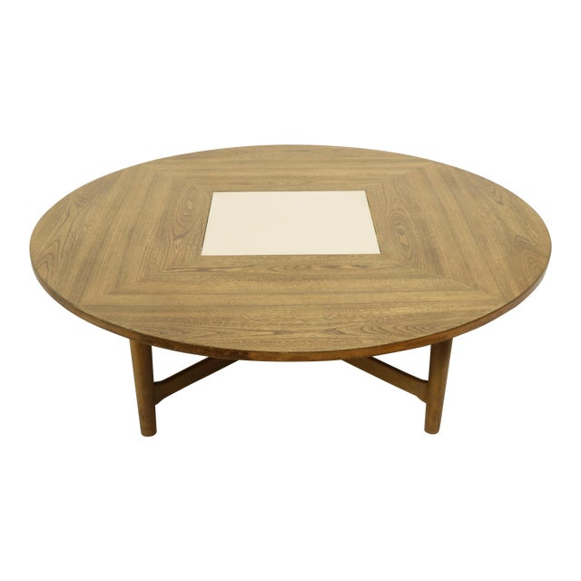 Round Mid Century Modern Coffee Table Attributed To Drexel Chairish