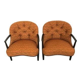 Pair of Classic Dunbar Janus Armchairs in Larsen Fabric For Sale