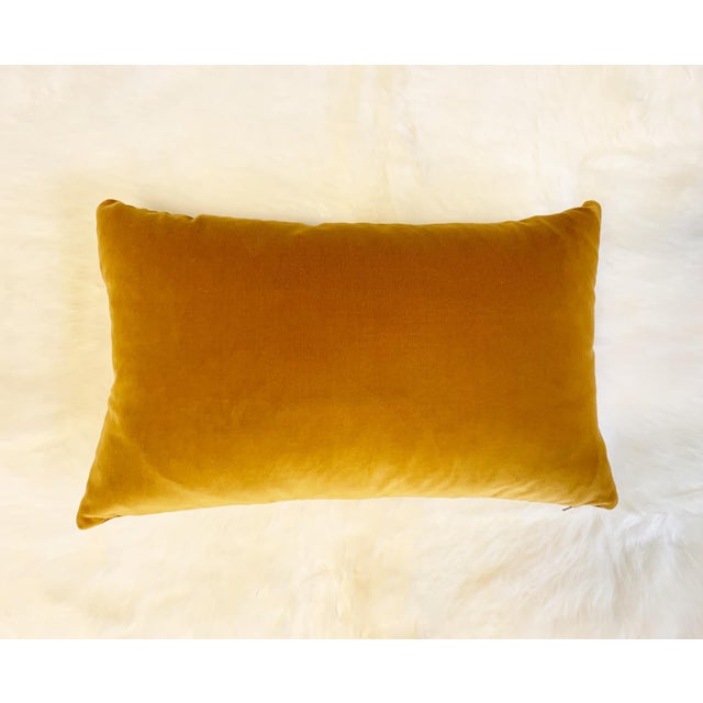 "Loro Piana Velvet Pillow, 21"" For Sale In Saint Louis - Image 6 of 6"