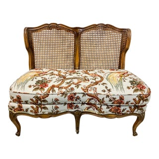 French Style Settee in Toile