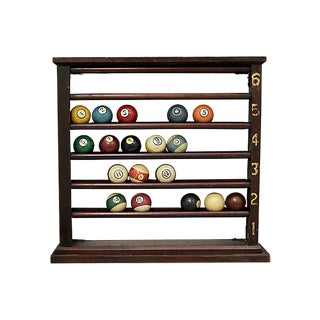 Antique Pool Ball Rack Set For Sale