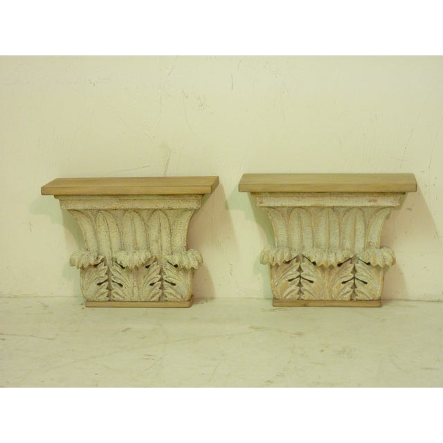 French Early 19th Century Vintage Carved Capitals- A Pair For Sale - Image 3 of 3