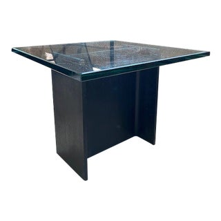 Iron Beam and Glass Sculptural Side Table For Sale