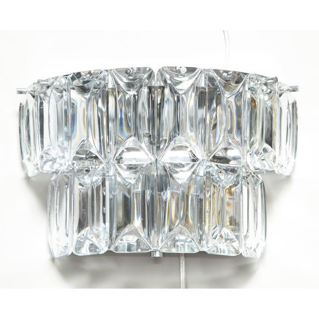 Glamorous 1970s Austrian Crystal Sconces For Sale - Image 9 of 10