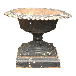 Black Iron Urn or Planter from Late 19th Century England For Sale