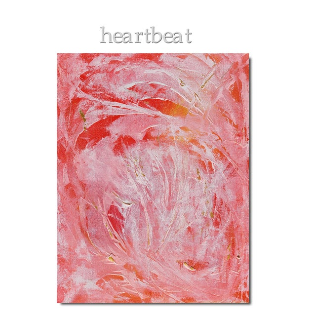 Heartbeat is a modern expressionist-style abstract with lots of movements and some light impasto texture. Soft...