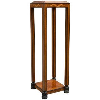Swedish Grace Mahogany Pedestal For Sale