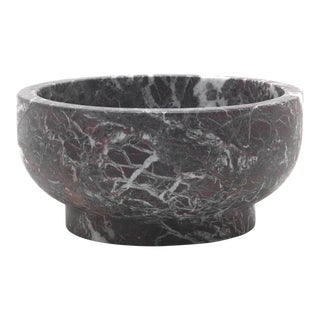 Bowl in Rosso Levanto Marble, Made in Italy For Sale