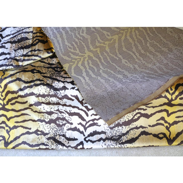 Tiger Striped Velvet Fabric 1 Yard For Sale - Image 4 of 5