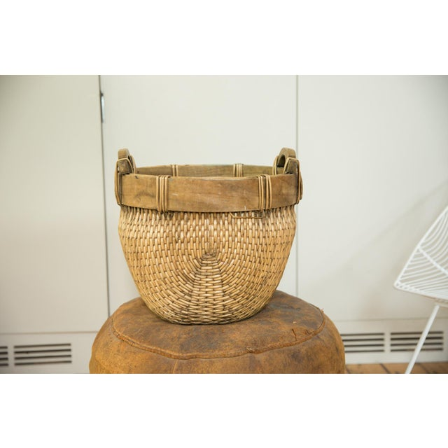 Vintage basket handmade from willow.