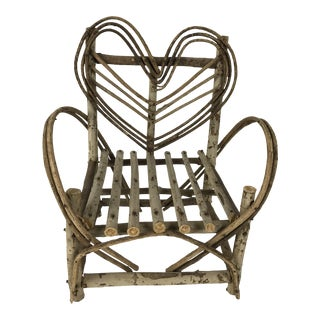 Bent Twigs Heart Chair Plant Stand For Sale