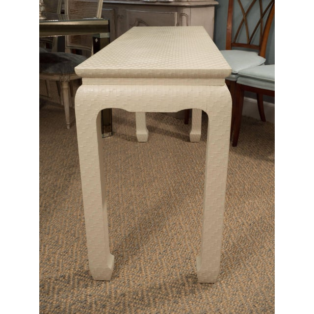 Wood White Lacquered Console Table For Sale - Image 7 of 10