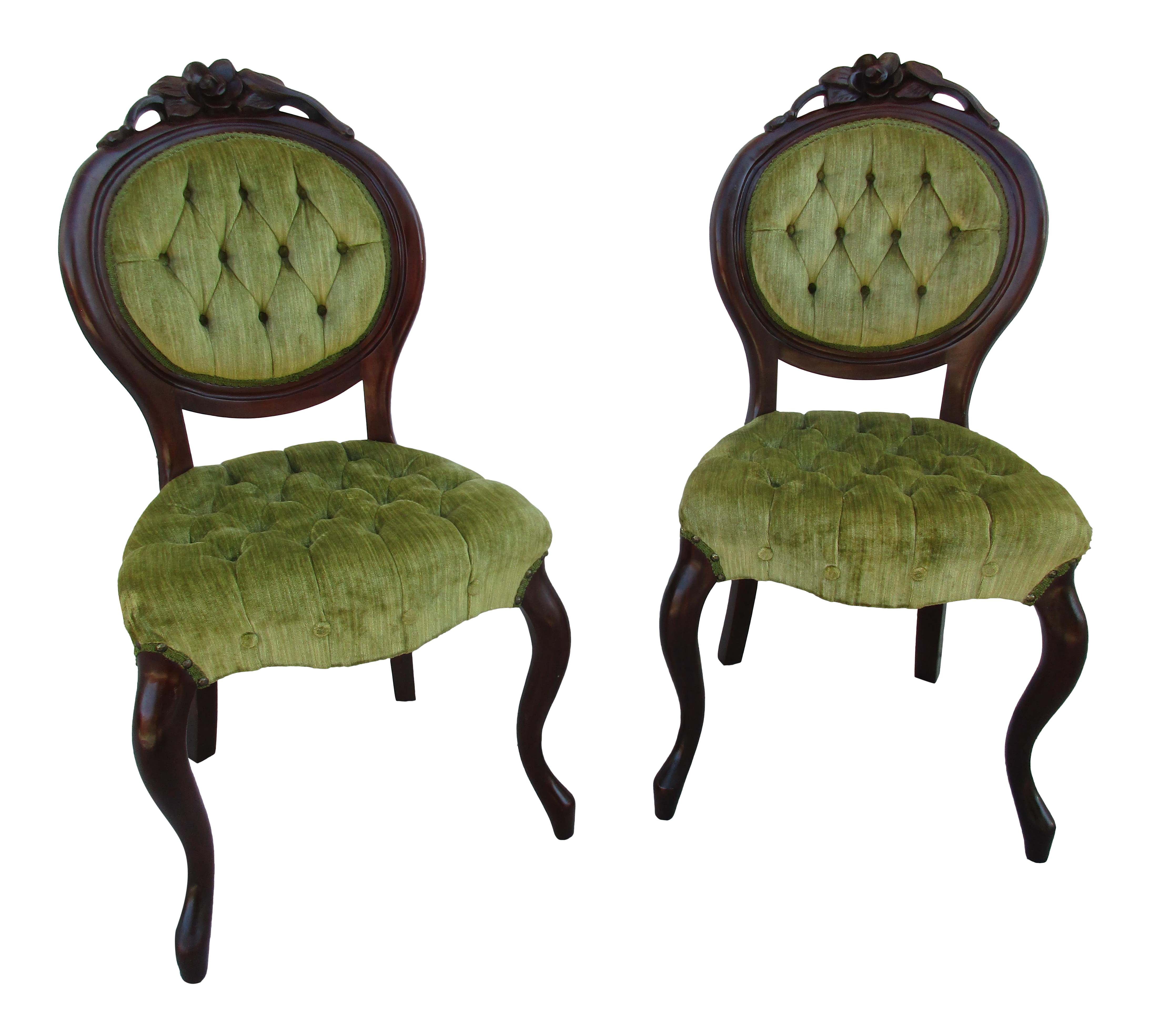 Kimball Furniture Victorian Style Tufted Parlor Chairs   A Pair