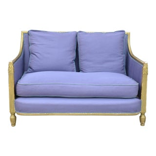 1920s Vintage Paul Follot Gilt Art Deco Settee For Sale