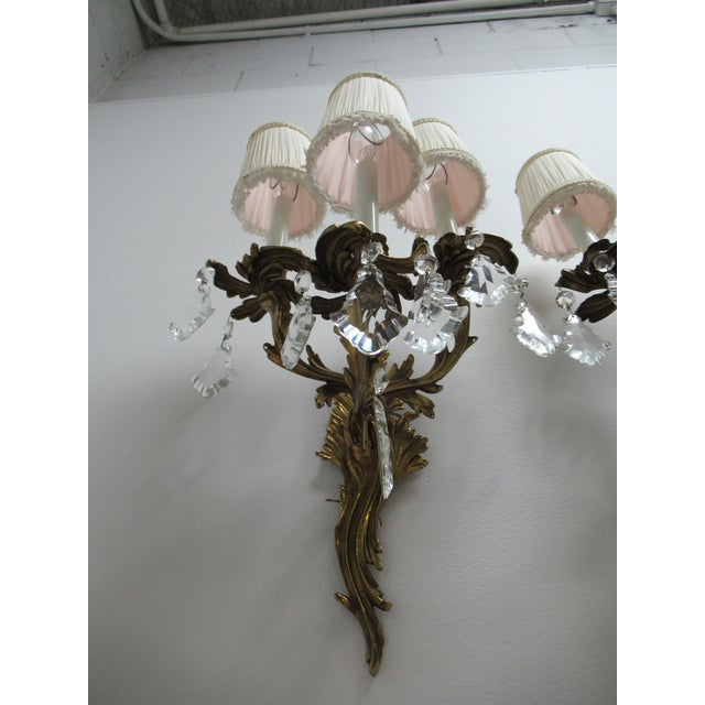 Brass Vintage Chapman Brass French Regency Wall Sconces - a Pair For Sale - Image 7 of 12
