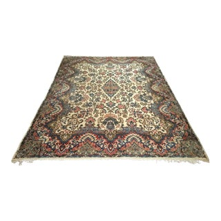 1920s Antique Persian Kerman Lavar Rug - 9′ × 12′ For Sale
